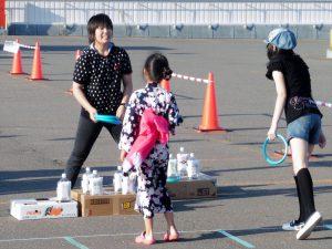南北野けんこう子ども会が運営した輪投げコーナー