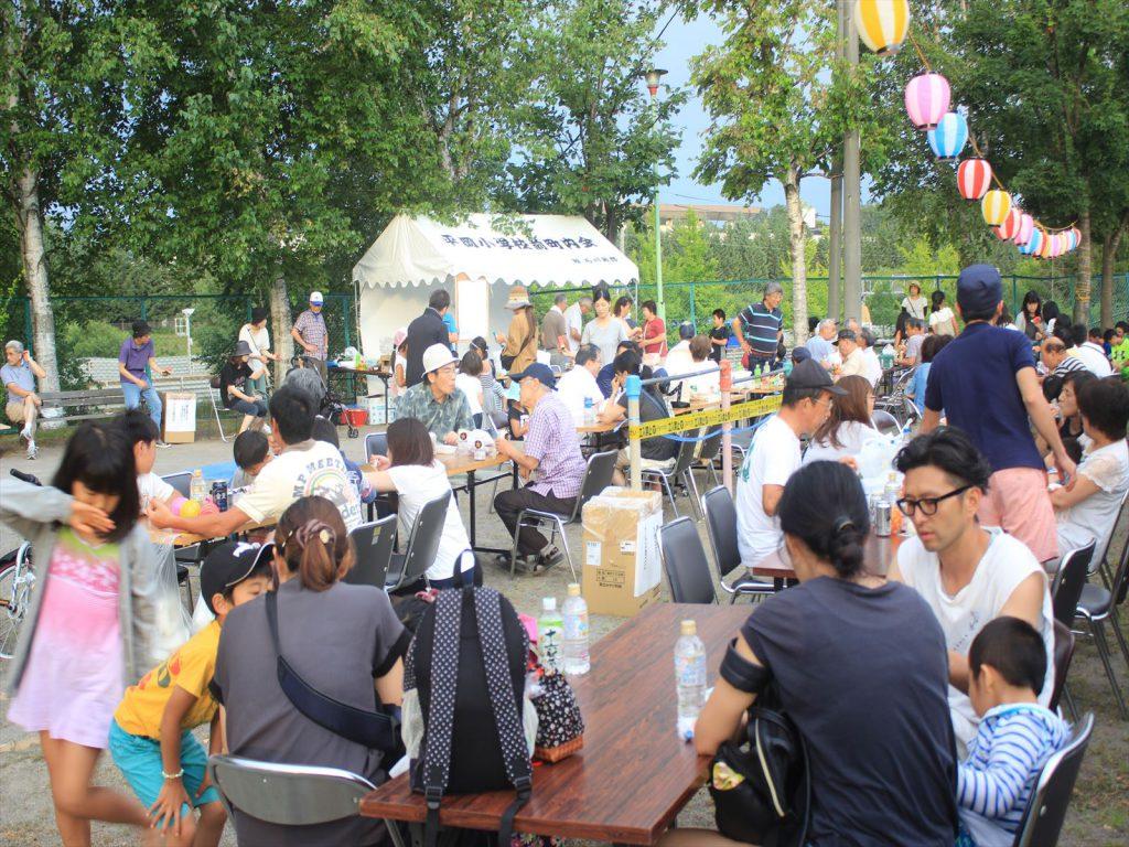 地域の人たちが集まった! 平岡小学校前町内会の夏祭り=平岡ライラック公園