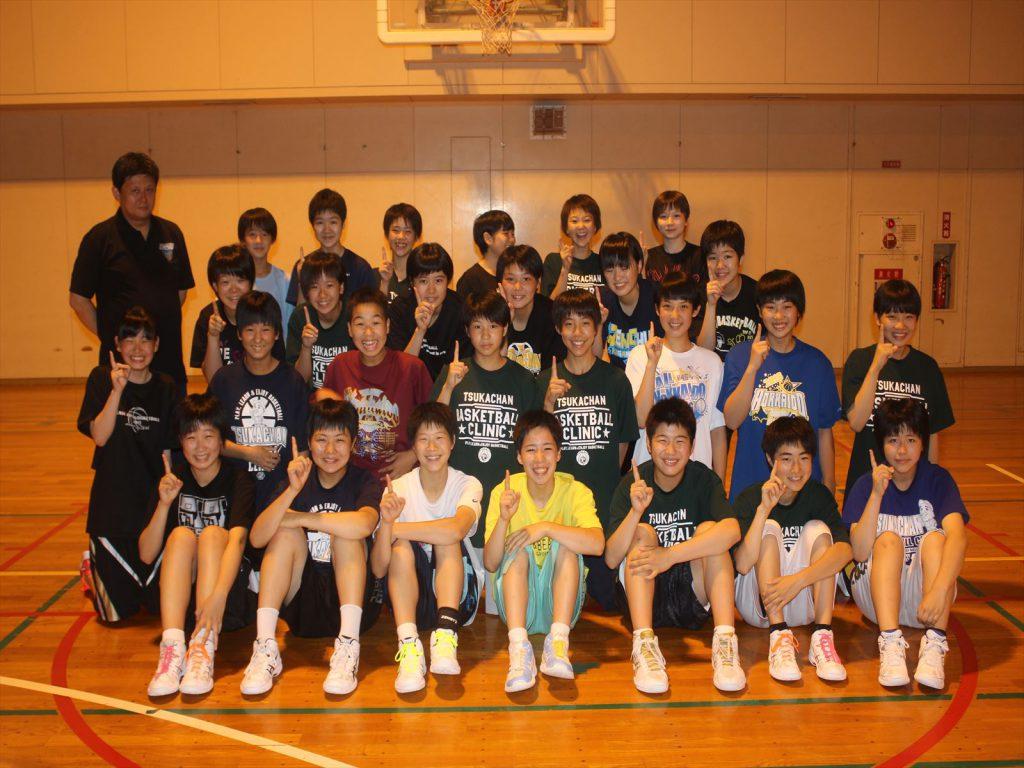 元気いっぱい清田中学校女子バスケットボール部