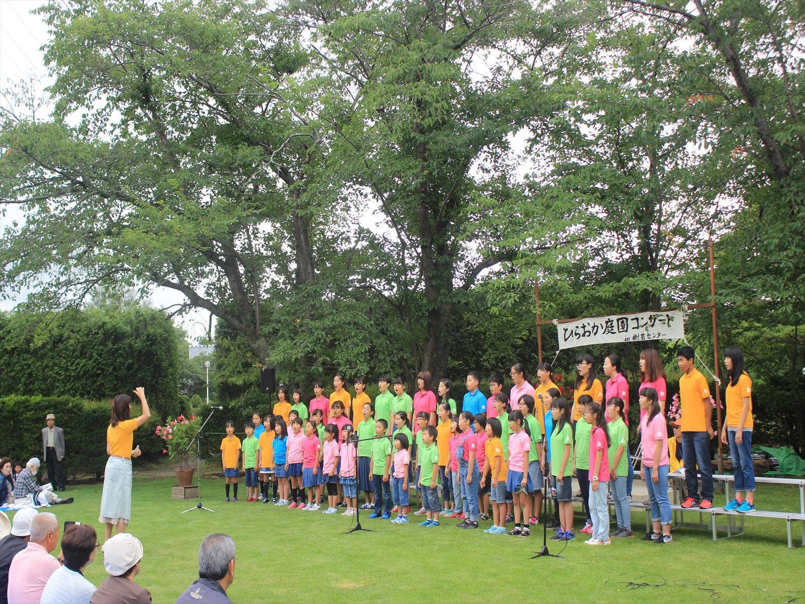 札幌北野少年少女合唱団の元気な歌声