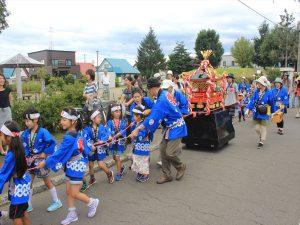 北野地区の子供神輿渡御