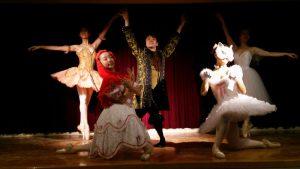 華麗なバレエの演技