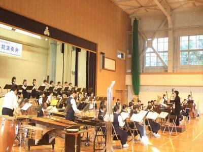 「清田中サウンド」を奏でる部員たち