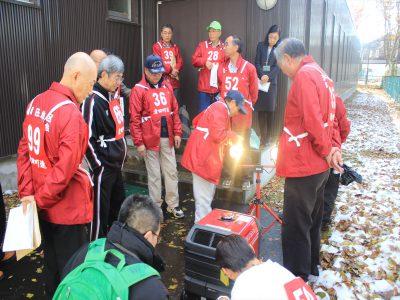 発電機と投光器の設置訓練